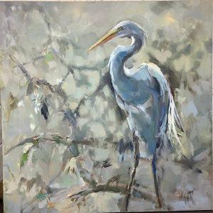 Geraldine Lookout, oil by Carol Hallock