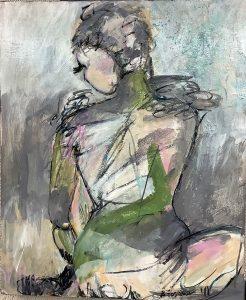 Pixie Dust, acrylic by Barbara Fornias